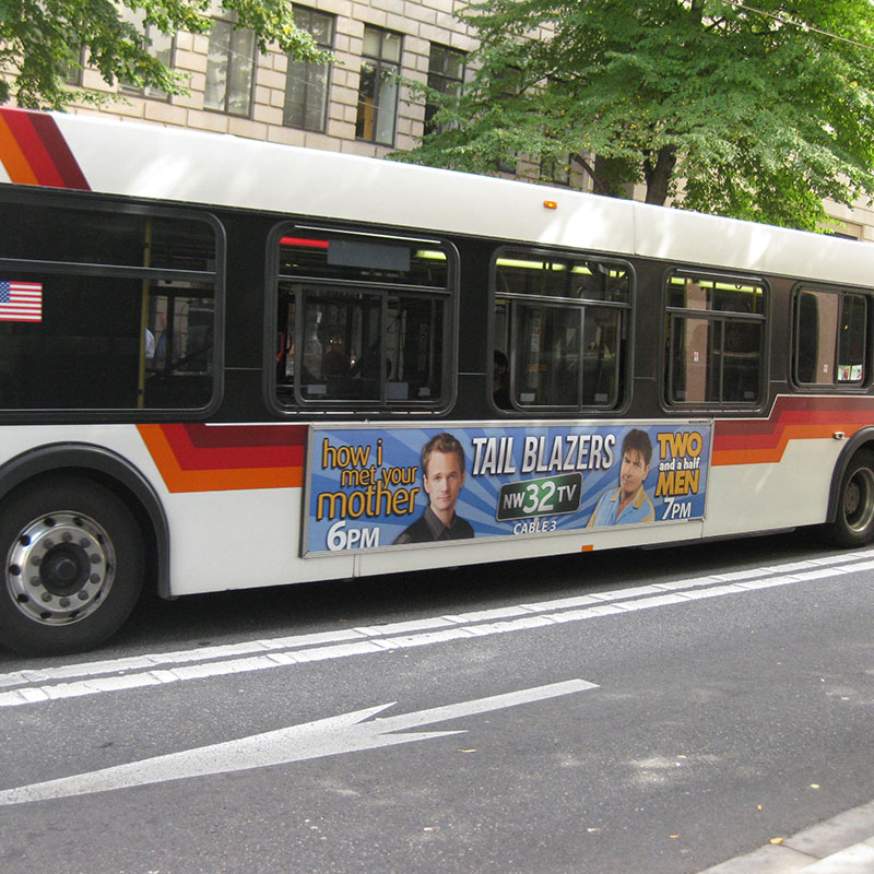 TriMet Bus Advertisement