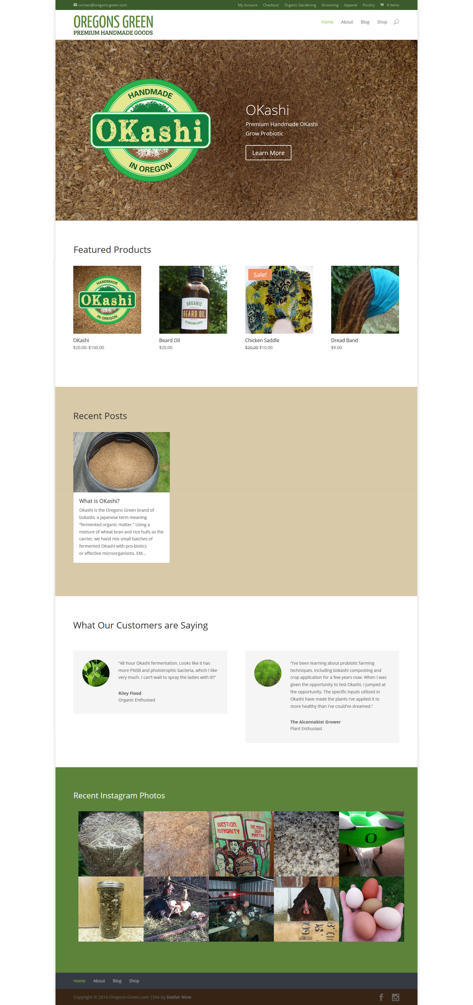 Oregons Green Website by Stellar Nine