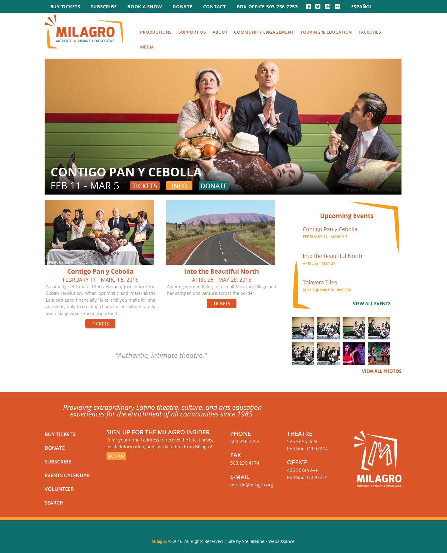 Milagro Website - English