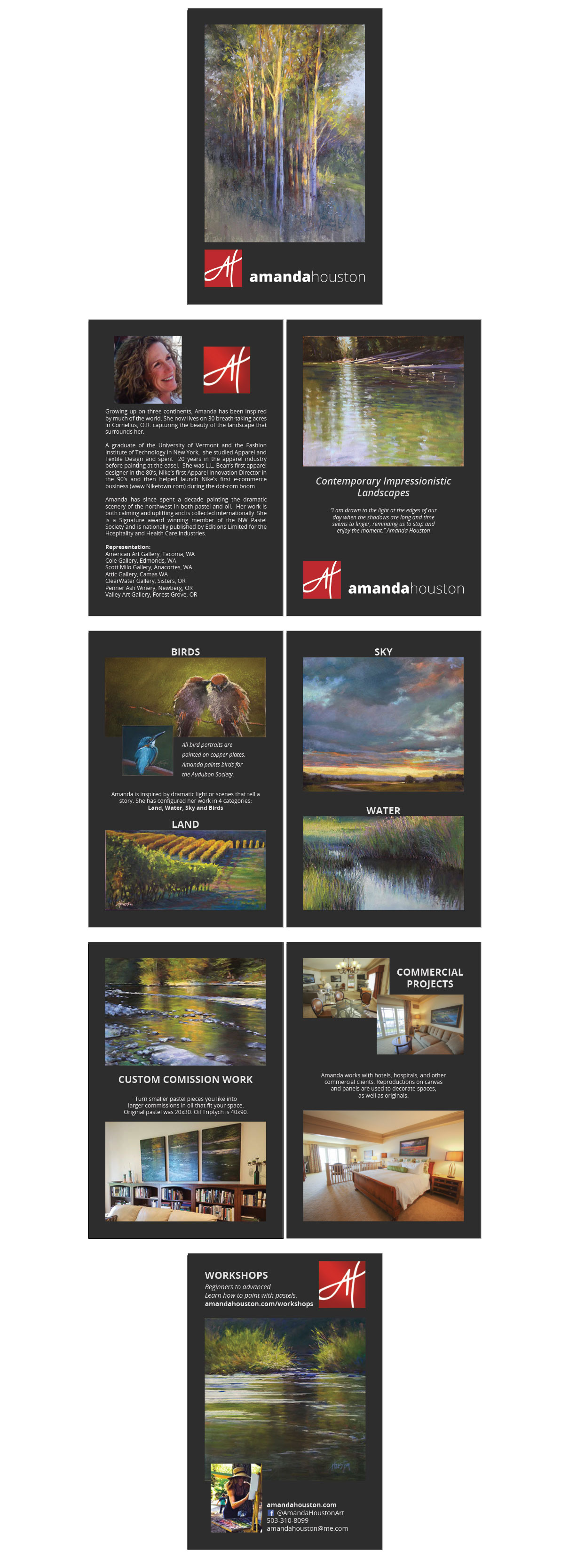Print Booklet Marketing Materials for Fine Artist Amanda Houston