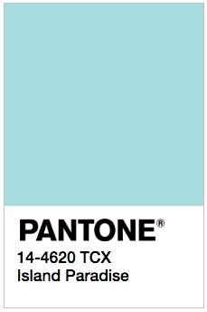Island Paradise - Pantone 14-4620 TCX