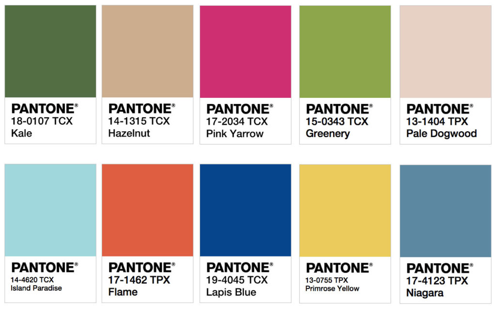 Pantone 2017 Color Trend Predictions