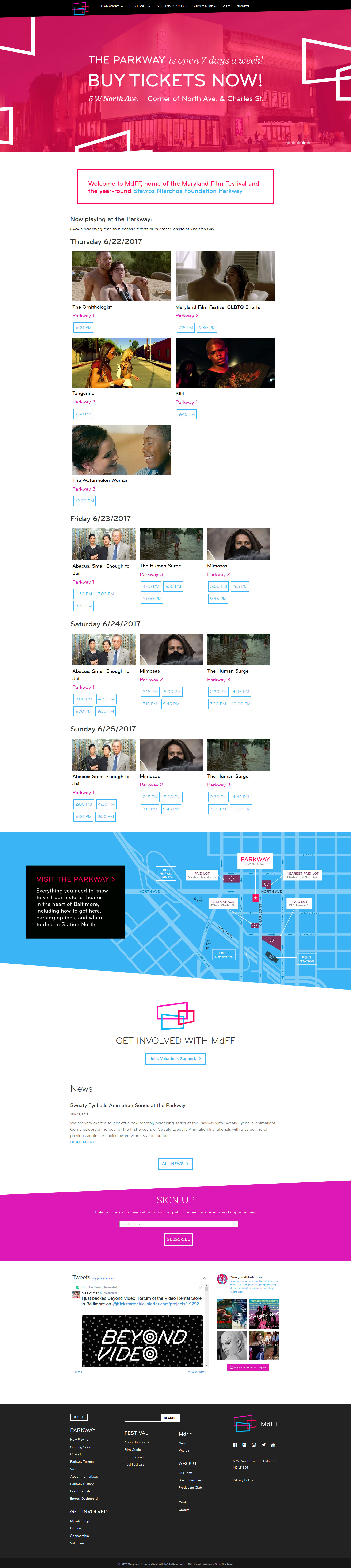 Maryland Film Festival Website Design