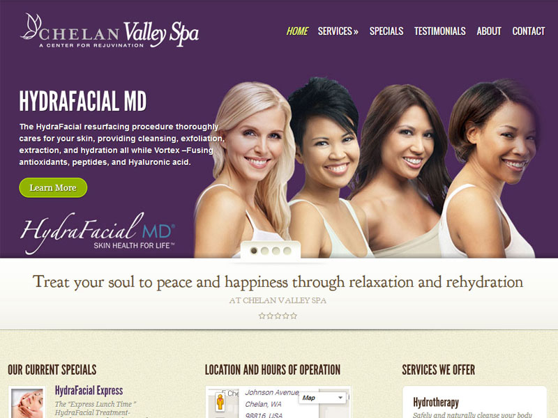 Chelan Valley Spa Website
