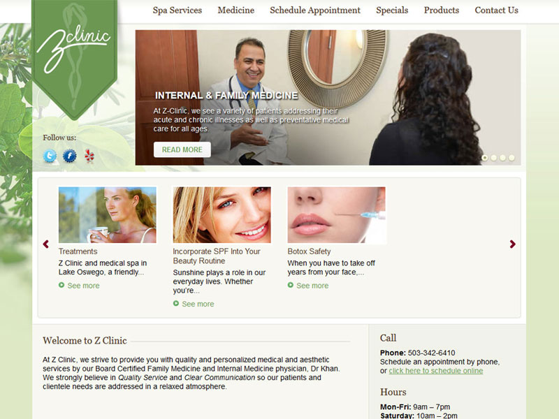 Z-Clinic Family Medicine Website