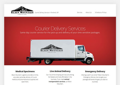 Black Mountain Logistics Website