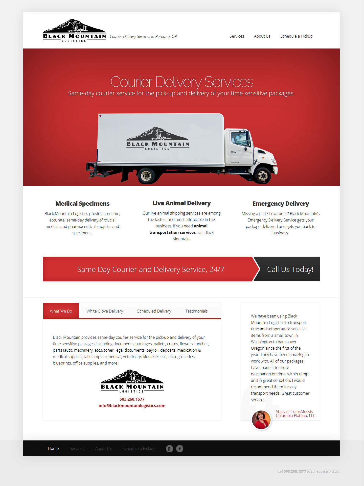 Black Mountain Logistics Website by Stellar Nine