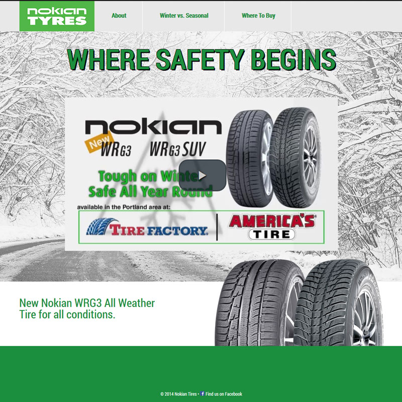 Nokian Tires Portland Website