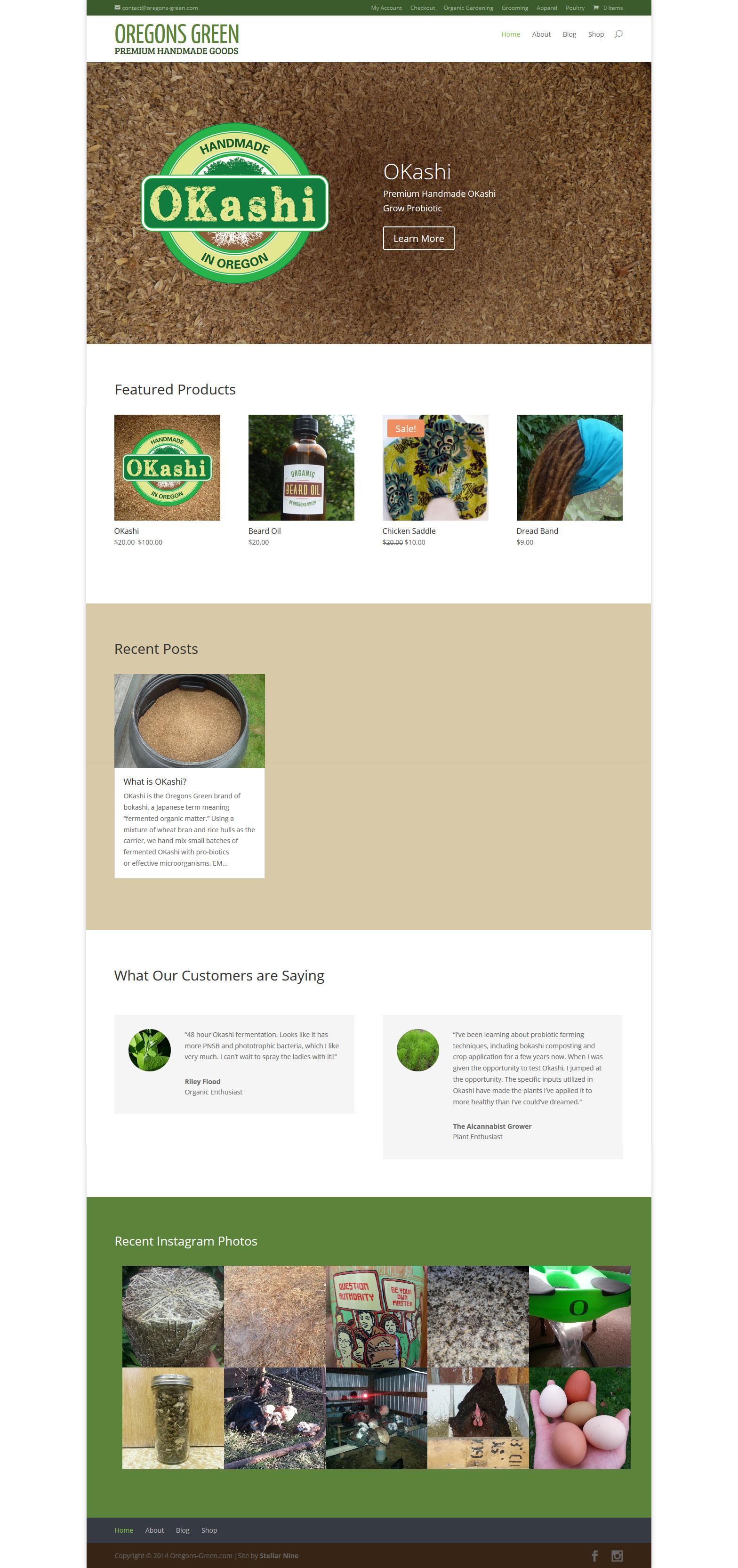 Oregons Green Website by Stellar Nine