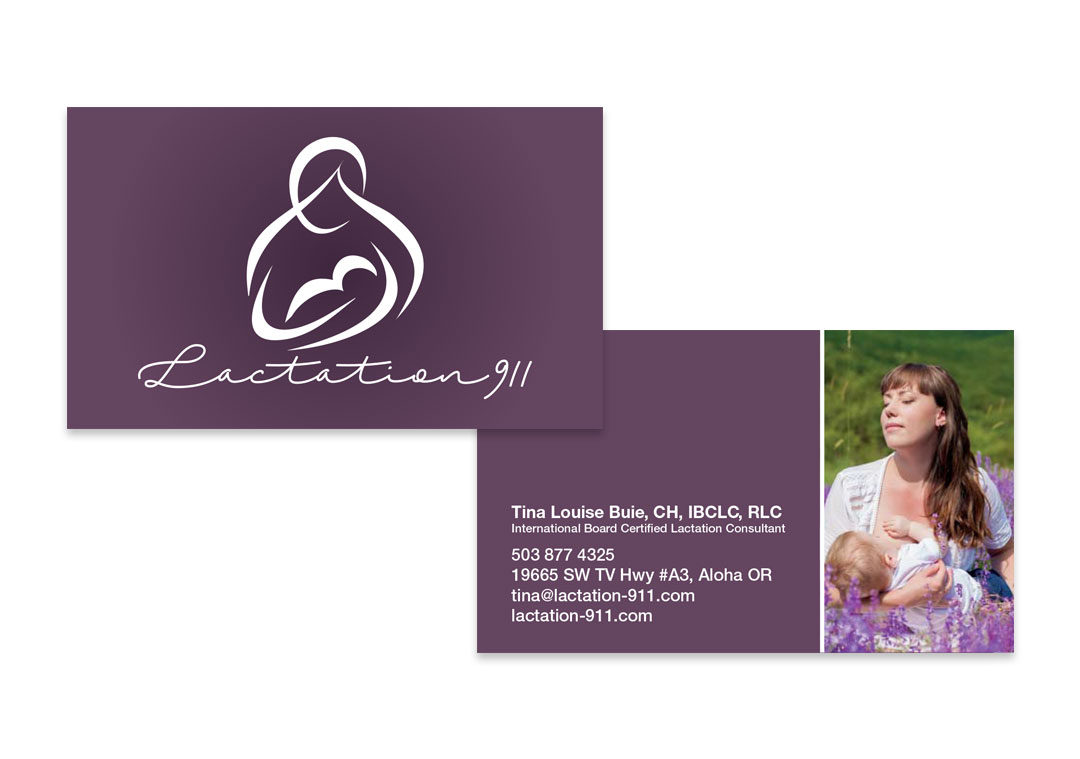 Business Card Design Horizontal Lactation Consultant