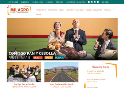 Milagro Multilingual Website