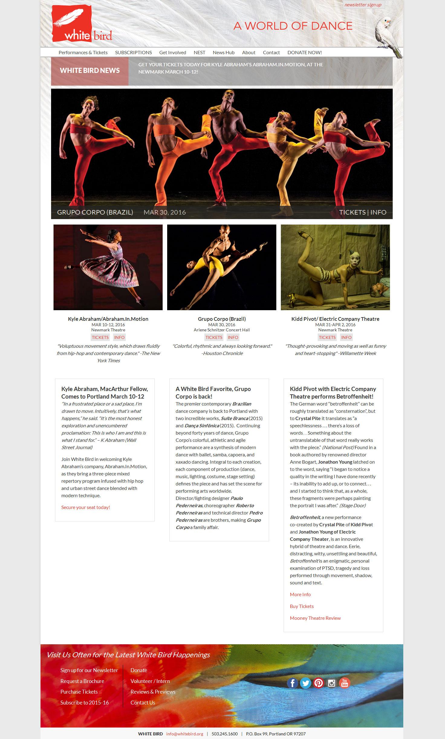 White Bird Website