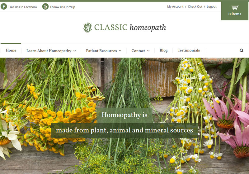 Classic Homeopath Responsive Website Design