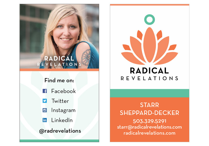 Radical Revelations Business Cards