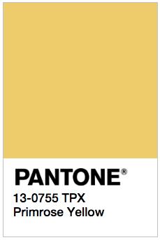 Primrose Yellow - Pantone 13-0755 TPX