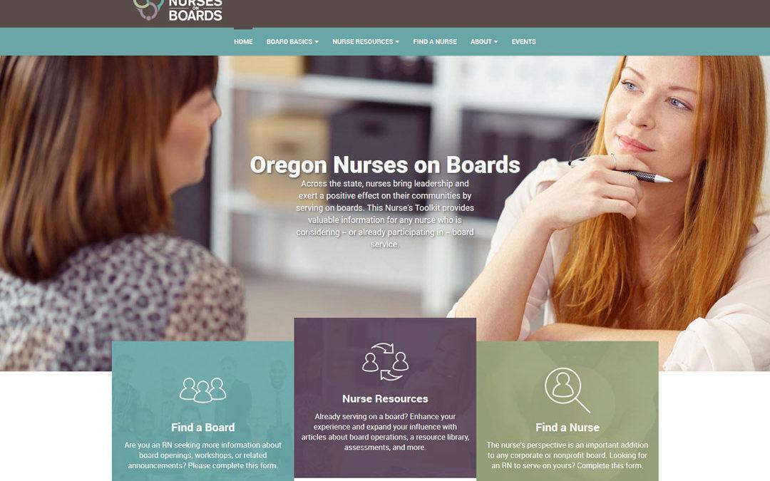 Oregon Nurses on Boards Responsive Website Design