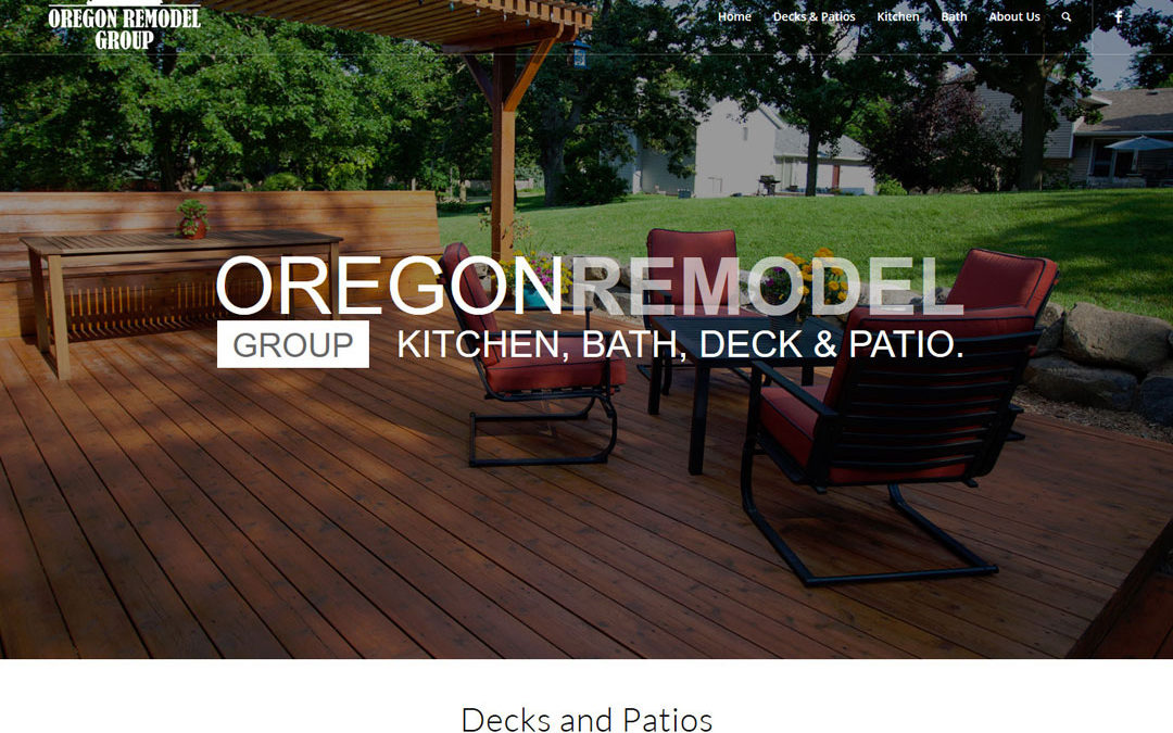 Oregon Remodel Group One Page Website